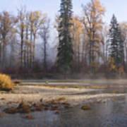 Wenatchee River, Fall 2015 Art Print