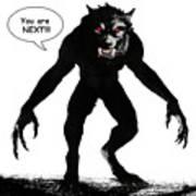 Werewolf Comic Illustration 1 Art Print
