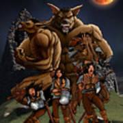 Werewolf Transformation Art Print