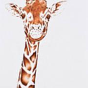 West African Giraffe Art Print