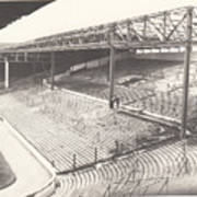 West Bromwich Albion - The Hawthorns - Brummie Road End 1 - Bw - 1960s Art Print