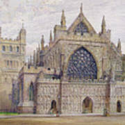 West Front, Exeter Cathedral Art Print