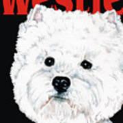 West Highland White Terrier Westie Urban Pop Art Print