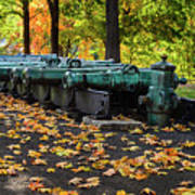 West Point Fall Leaves Art Print