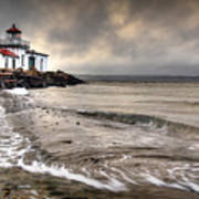 West Point Light House Art Print