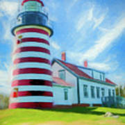 West Quaddy Head Lighthouse Art Print