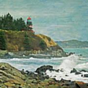 West Quoddy Head Lighthouse Art Print