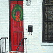 West Street Christmas Art Print