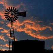 West Texas Cattle Tank Art Print