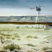 West Texas Windmill Art Print