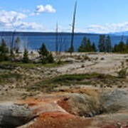 West Thumb Geyer At Yellowstone Lake Art Print