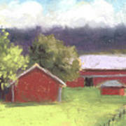 West View Of The Meyer Ranch Art Print