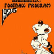 West Virginia 1925 Football Program Art Print