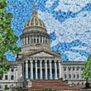 West Virginia State Capitol Art Print