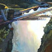 West Yaak Falls Art Print
