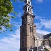 Westerkerk Tower And Church. Amsterdam. Netherlands. Europe Art Print