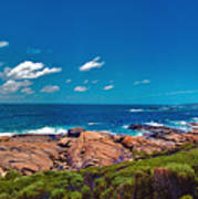 Western Australia Beach Panorama Margaret River Art Print