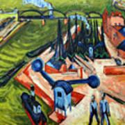Western Harbour In Frankfurt  Art Print