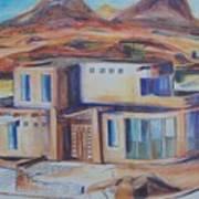 Western Home Rendering Art Print
