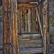 Western Outhouse Art Print