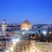 Western Wall And Dome Of The Rock Art Print