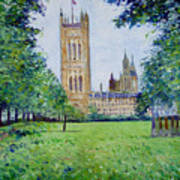 Westminster Abbey From Abbey Grounds London England 2003  Art Print