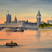 Westminster And Big Ben  Art Print