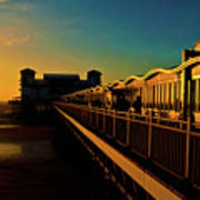 Weston Pier At Sunset Art Print