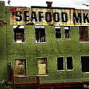 Westport Washington Seafood Market Art Print