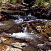 Rocks And Water In Autumn Art Print