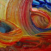 Wet Paint - Run Colors Art Print