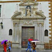 Wet People Door Cadiz Art Print