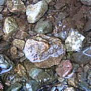 Wet Rocks Art Print