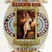 W.f.bemis And Co - Tivoli Garden Cigar Store - Vintage Advertising Poster Art Print