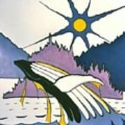 Whale-charlotte Islands Art Print