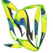 Whale Flow Art Print