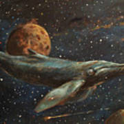 Whale Of The Universe Art Print