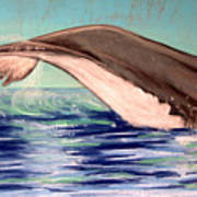 Whale Tail    Pastel   Sold Art Print