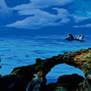 Whales Tales Art Print
