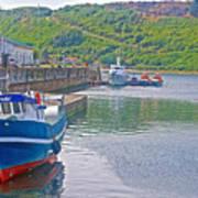 Wharf Near Angelmo Fish Market In Puerto Montt-chile  Art Print