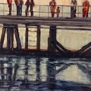 Wharf Reflections@ Halifax N. S. Art Print