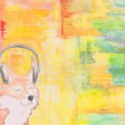 What Does The Fox Hear? Art Print