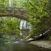 Whatcom Falls Bridge Art Print