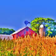 Wheat Farm Near Gettysburg Art Print