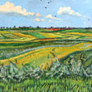 Wheat Fields And Clouds Art Print
