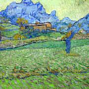 Wheat Fields In A Mountainous Landscape, By Vincent Van Gogh, 18 Art Print