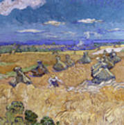 Wheat Fields With Reaper, Auvers Art Print