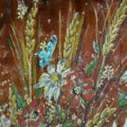 Wheat 'n' Wildflowers I Art Print