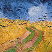 Wheatfield With Crows Art Print