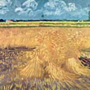 Wheatfield With Sheaves Art Print